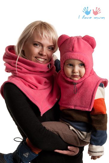 Флисовая капор-манишка для мамы и малыша заменит необходимость в шарфах...