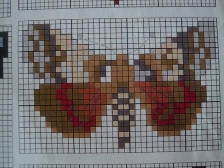 Бабочки крестиком схемы.