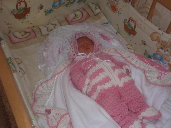 Вязаный комплект для новорожденных своими руками
