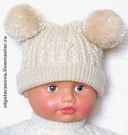 вязание шапок на спицах для мальчиков - Выкройки одежды для детей и...