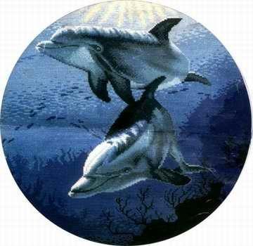схема дельфина для вышивания - Всемирная схемотехника.