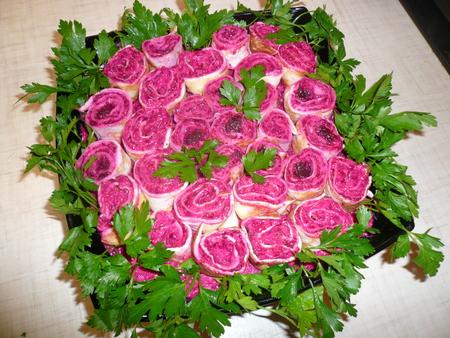 Рецепты салатов с розочками с фото