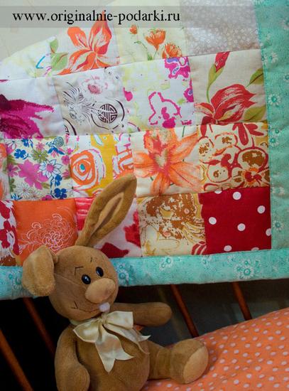Рукоделие: Детское Одеяло В Технике Пэчворк Летний День ФОТО #2.