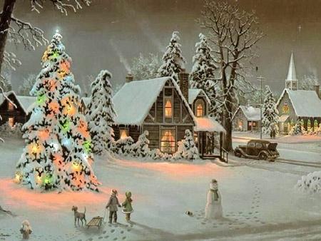 Новогодние дома красивое фото