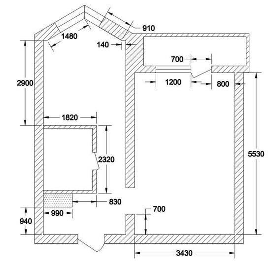 Планировки квартир с линейными размерами.