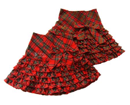 Как сшить на девочку юбку шотландку