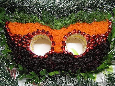 К новому году украшенные салаты