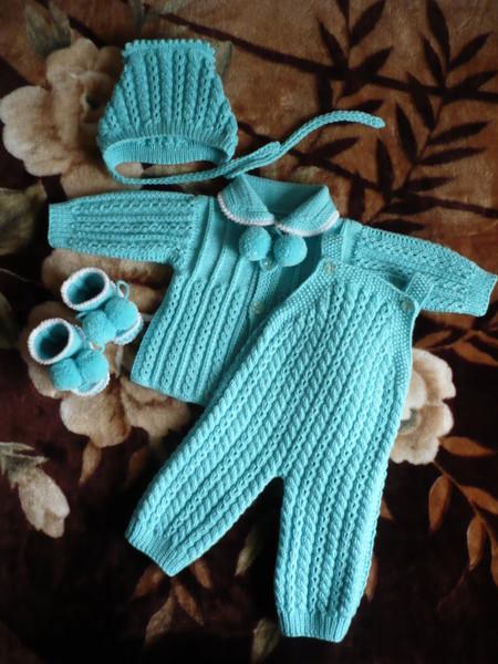 Вязание костюмчика на новорожденного мальчика 559